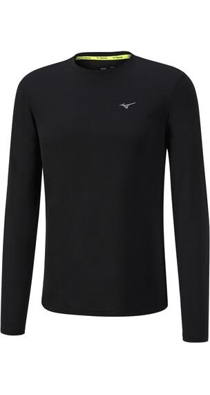 Mizuno Impulse Core Hardloopshirt lange mouwen Heren zwart